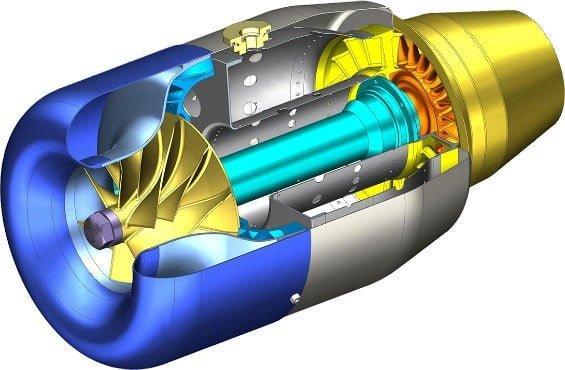 Turbojet motor