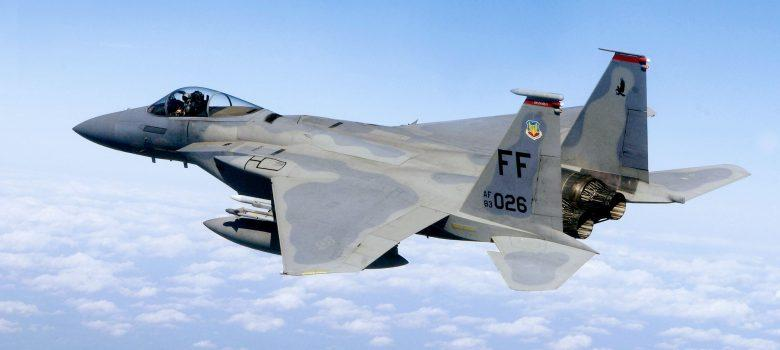 F 15 71st Fighter Squadron in flight scaled
