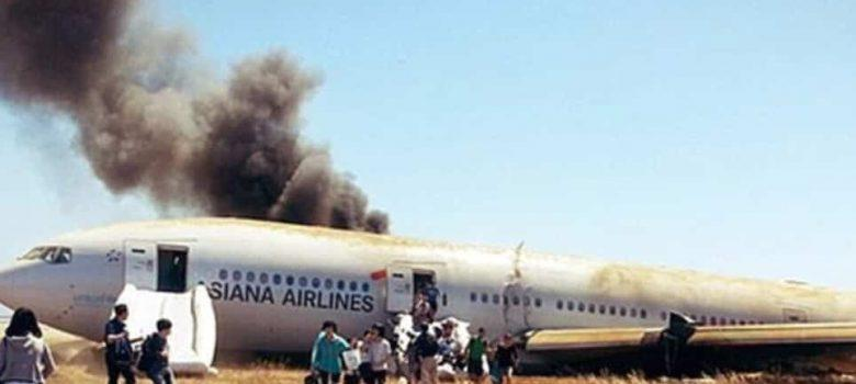 evacuare avion boeing 777 200 asiana airlines
