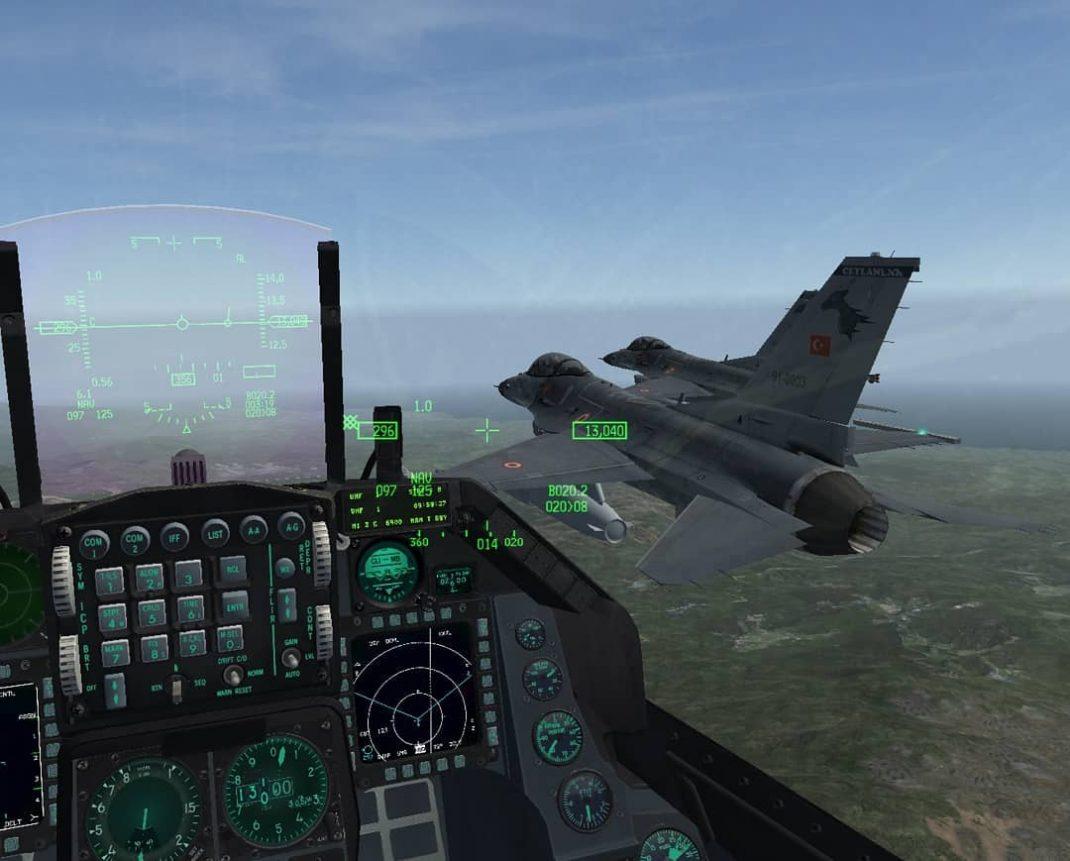 sanal havacılık askeri f-16 simülasyon