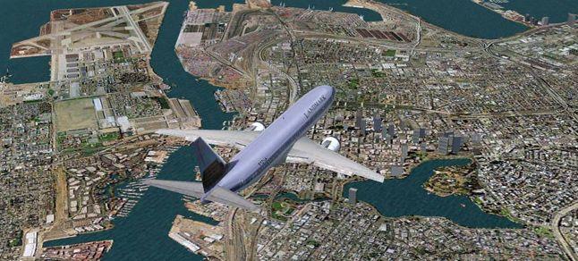 sanal havacılık yolcu uçağı
