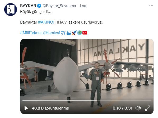 bayraktar akinci tiha hava kuvvetleri komutanligina teslim edildi turk silahli kuvvetleri