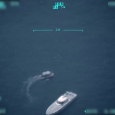 turk karasularini ihlal eden yunan ls 134 botunu izleyen insansiz hava araci iha
