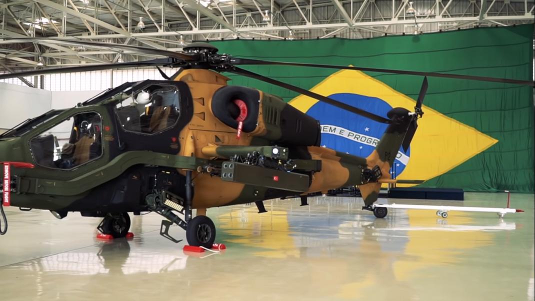 T129 Atak Helikopteri Brezilya'da uçuşa hazırlanıyor.