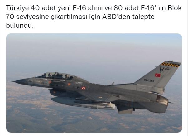 f 16 f16 abd den savas ucagi tedariki turkiye talep etti blok 70 40 adet f 16 80 adet blok 70 modernizasyon kiti